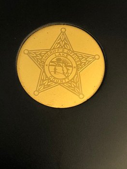 LAKE COUNTY SHERIFF FL PAPERWEIGHT COASTER