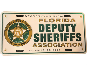 FL DEPUTIES ASSN LICENSE PLATE