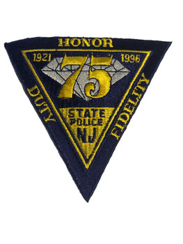 NEW JERSEY STATE POLICE 75TH BLUE PATCH