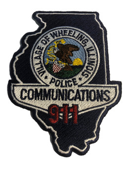 WHEELING IL POLICE 911 PATCH