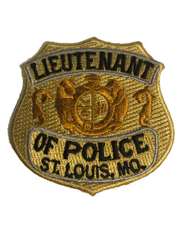 ST. LOUIS MO LIEUTENANT BADGE PATCH