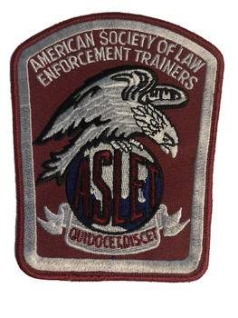 ASLET TRAINERS POLICE PATCH