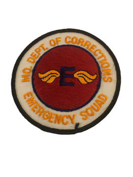 MO DEPT. OF CORRECTIONS EMERGENCY SQUAD POLICE PATCH