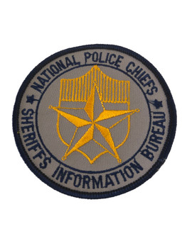 NATIONAL POLICE CHIEFS & SHERIFFS INFO BUREAU PATCH
