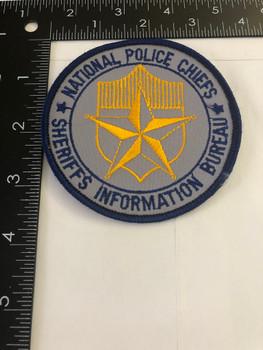 NATIONAL POLICE CHIEFS & SHERIFFS INFO BUREAU PATCH