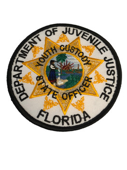 FLORIDA DEPARTMENT OF JUVENILE JUSTICE PATCH RARE