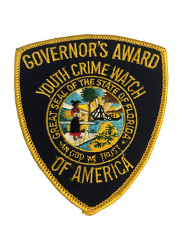 Florida Governors Award Youth Crime Watch  Patch RARE
