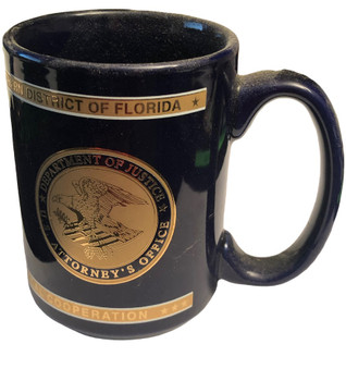 U.S. ATTORNEY SOUTHERN DISTRICT OF FLORIDA POLICE MUG