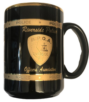 RIVERSIDE CA POLICE OFFICERS ASSN. COFFEE MUG