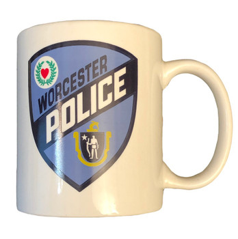 WORCESTER MASS MA POLICE COFFEE MUG