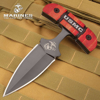 USMC Push Dagger And Sheath MARINE