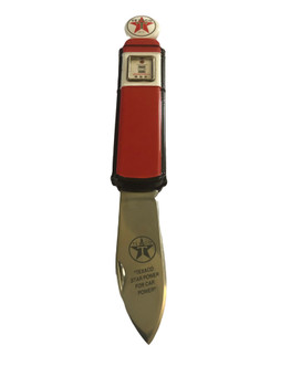 Franklin Mint Texaco Gas Pump Pocket Knife
