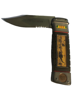 FRANKLIN MINT VIETNAM WAR UH-1B HUEY COLLECTORS KNIFE FREE SHIPPING.ACTUAL KNIFE PHOTO!