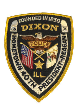 PRESIDENT REAGAN HOMETOWN DIXON POLICE PATCH FREE SHIPPING!