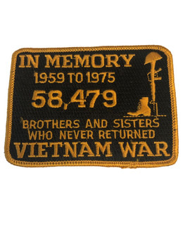 IN MEMORY OF VIETNAM WAR PATCH