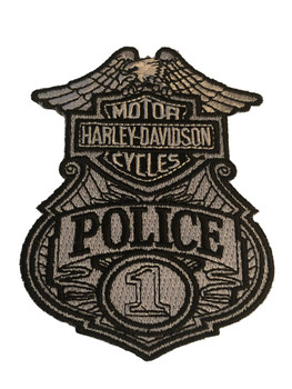 HARLEY POLICE PATCH FREE SHIPPING!