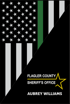 FLAGLER THIN LINE USA FLAG VERTICAL PLAQUE