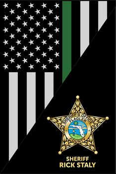 FLAGLER THIN LINE USA FLAG VERTICAL PLAQUE