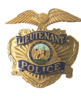 CALIFORNIA  POLICE LIEUTENANT CAP BADGE