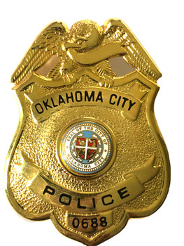 OKLAHOMA CITY OK  POLICE BADGE
