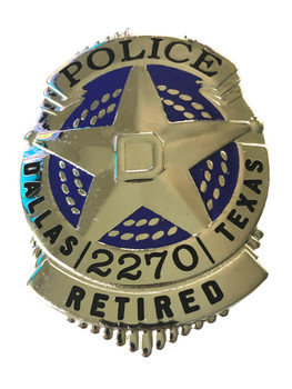 DALLAS TEXAS POLICE RETIRED BADGE