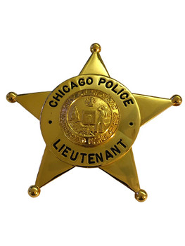 CHICAGO POLICE LIEUTENANT STAR BADGE