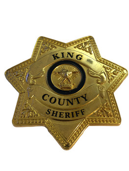KING CTY SHERIFF STAR BADGE