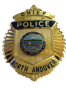 NORTH ANDOVER MA POLICE CHIEF BADGE