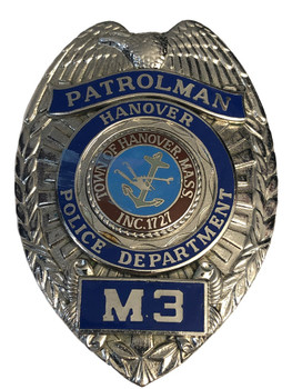 HANOVER MA PATROLMAN BADGE