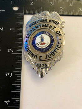 JUVENILE JUSTICE VA CORRECTIONS BADGE