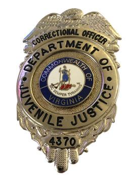 JUVENILE JUSTICE VA CORRECTIONS BADGE