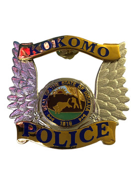 KOKOMO IN POLICE CAP BADGE