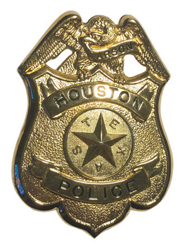 HOUSTON TX POLICE ARSON BADGE
