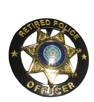 TEXAS RETIRED POLICE OFFICER STAR