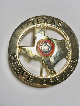 TEXAS PEACE OFFICER BADGE STATE OUTLINE