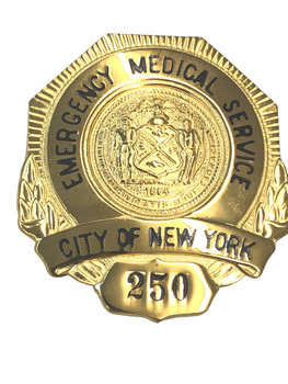 NEW YORK EMERGENCY MEDICAL SERVICE BADGE 250