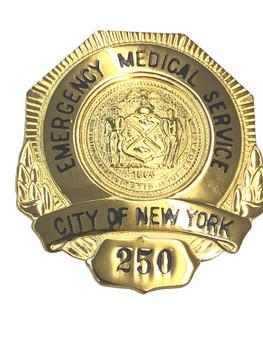 NEW YORK EMERGENCY MEDICAL SERVICE BADGE 250