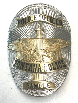 FONTANA CA POLICE BADGE