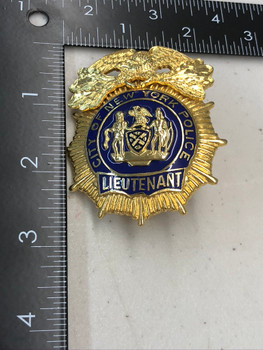 NYPD LIEUTENANT BADGE NO PIN