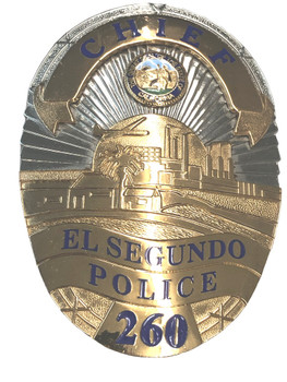 EL SEGUNDO CA POLICE CHIEF BADGE