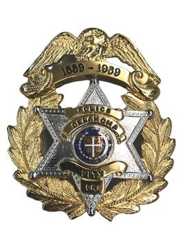 OKLAHOMA 100TH ANNIV. STAR BADGE