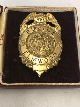 ELMWOOD NEW YORK POLICE CHIEFS BADGE