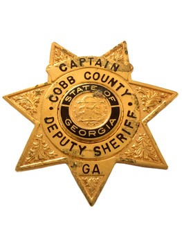 COBB COUNTY GA  SHERIFF CAPTAIN STAR BADGE