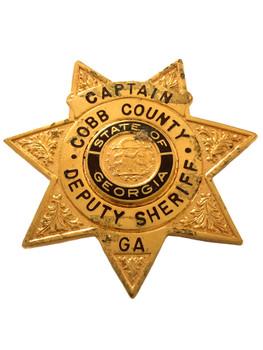 COBB COUNTY GA  SHERIFF CAPTAIN STAR BADGE