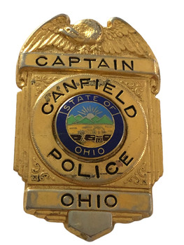 CANFIELD POLICE OH CAPTAIN BADGE