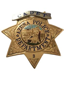 AZUSA POLICE CA CADET STAR BADGE