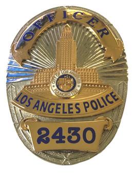 LAPD OFFICER BADGE 2430