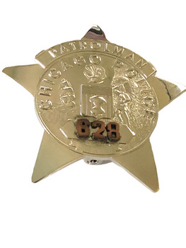 CHICAGO POLICE IL PATROLMAN STAR BADGE 628