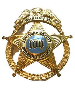 BROWARD CTY FL SHERIFFS 100 STAR BADGE RARE