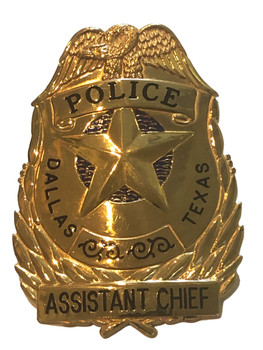 DALLAS POLICE TX ASSISTANT CHIEF BADGE